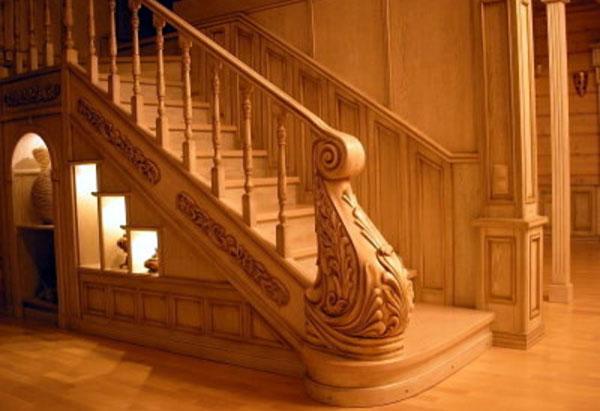 Лестницы из дуба фото