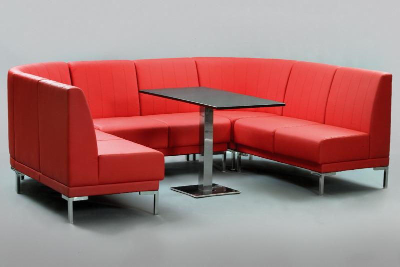 Офисный угловой диван - зона деловых переговоров